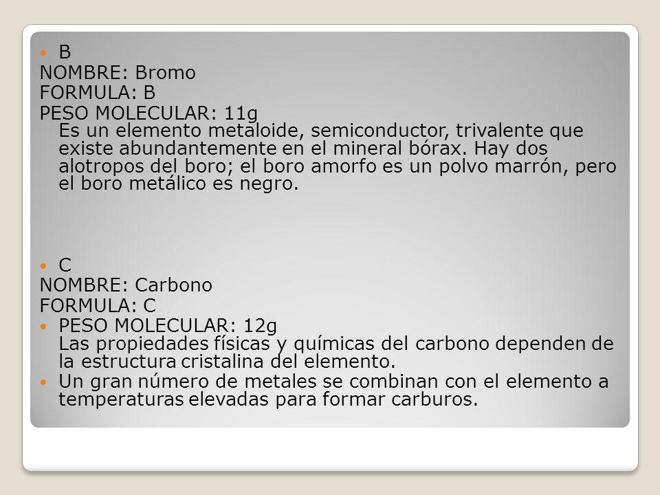 Tabla periodica emilio esteban prez crdenas ppt descargar b nombre bromo formula b urtaz Image collections
