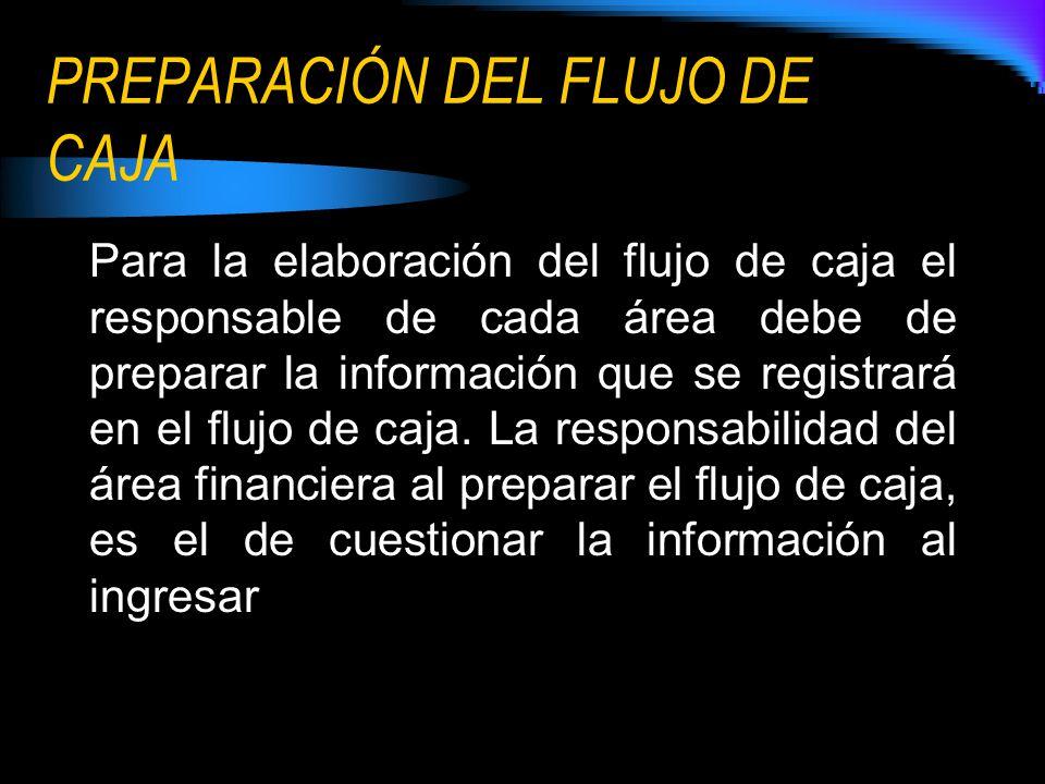 PREPARACIÓN DEL FLUJO DE CAJA
