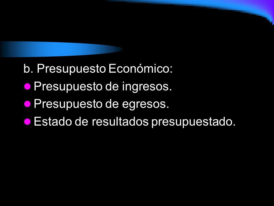 b. Presupuesto Económico: