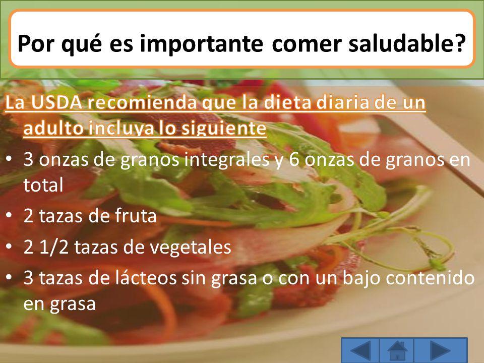 Por qué es importante comer saludable