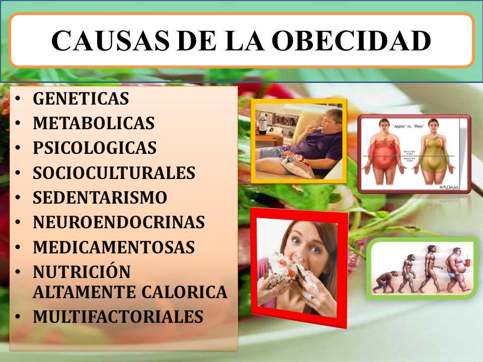 CAUSAS DE LA OBECIDAD GENETICAS METABOLICAS PSICOLOGICAS