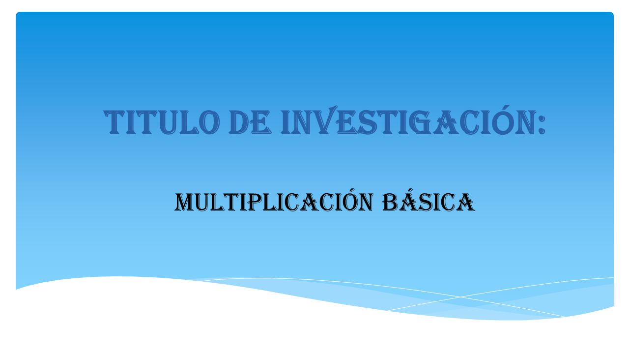 titulo de investigacion essay Finally, i mention the benefits teach- ers identified after publishing their research reports in the profile journal as well as some pedagogical implications resumen un programa de formación permanente de docentes (pfpd) de inglés de la universidad nacional de colombia ha incorporado la investigación como.