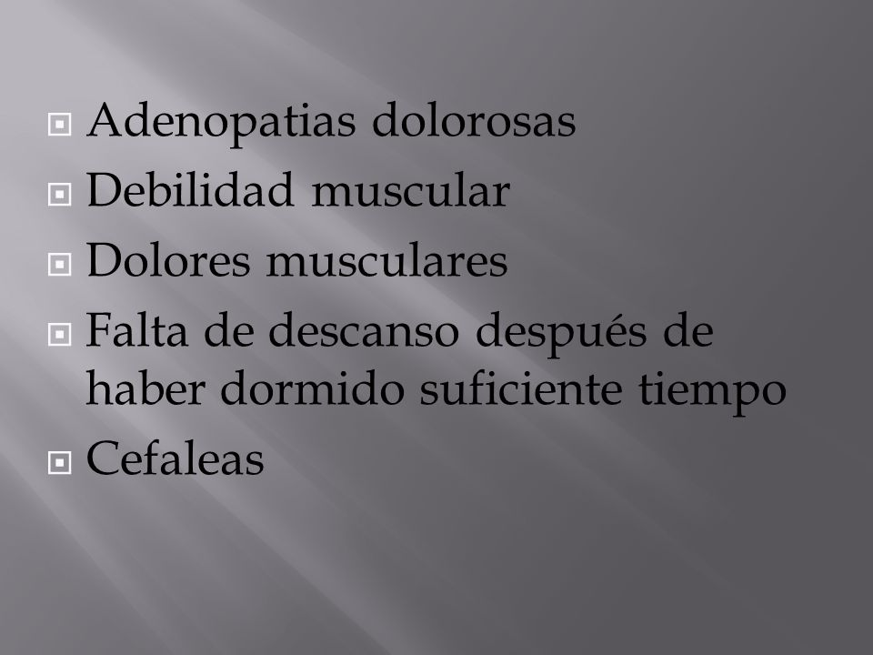 Adenopatias dolorosas