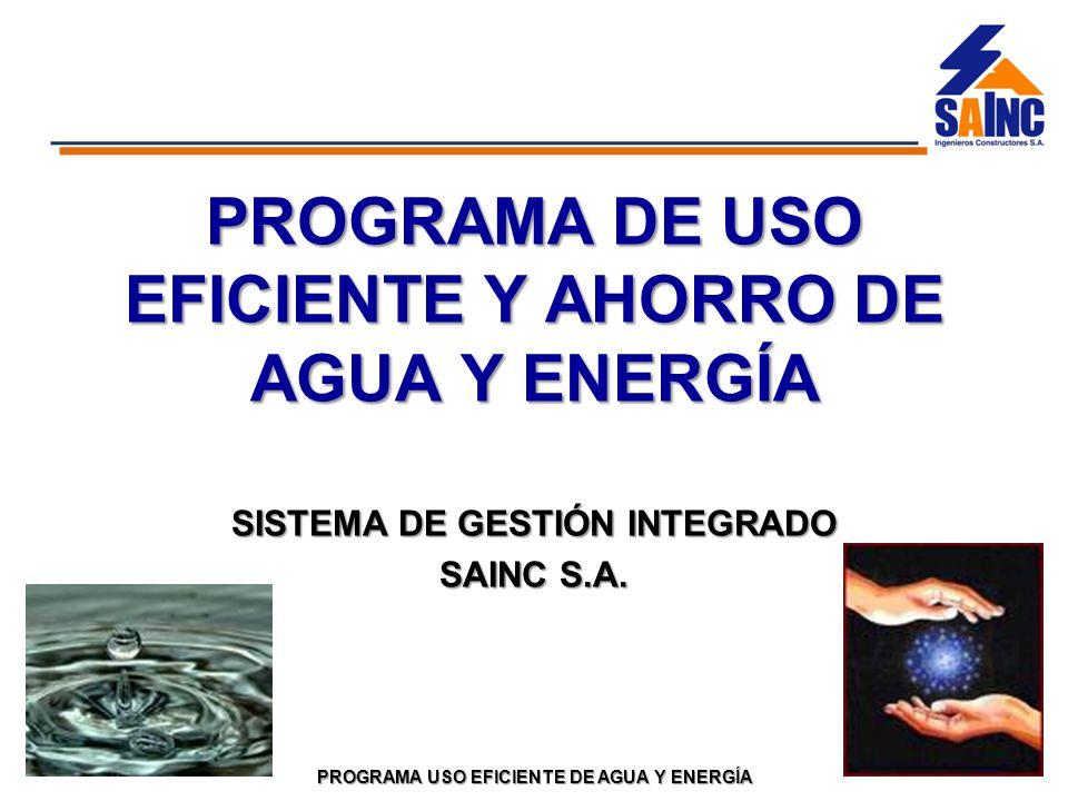 Programa de uso eficiente y ahorro de agua y energ a ppt for Sistemas de ahorro de agua