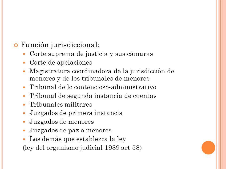 Función jurisdiccional: