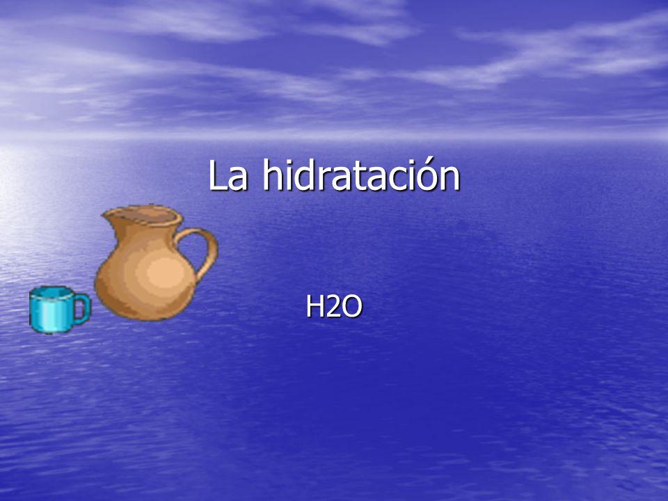 La hidratación H2O