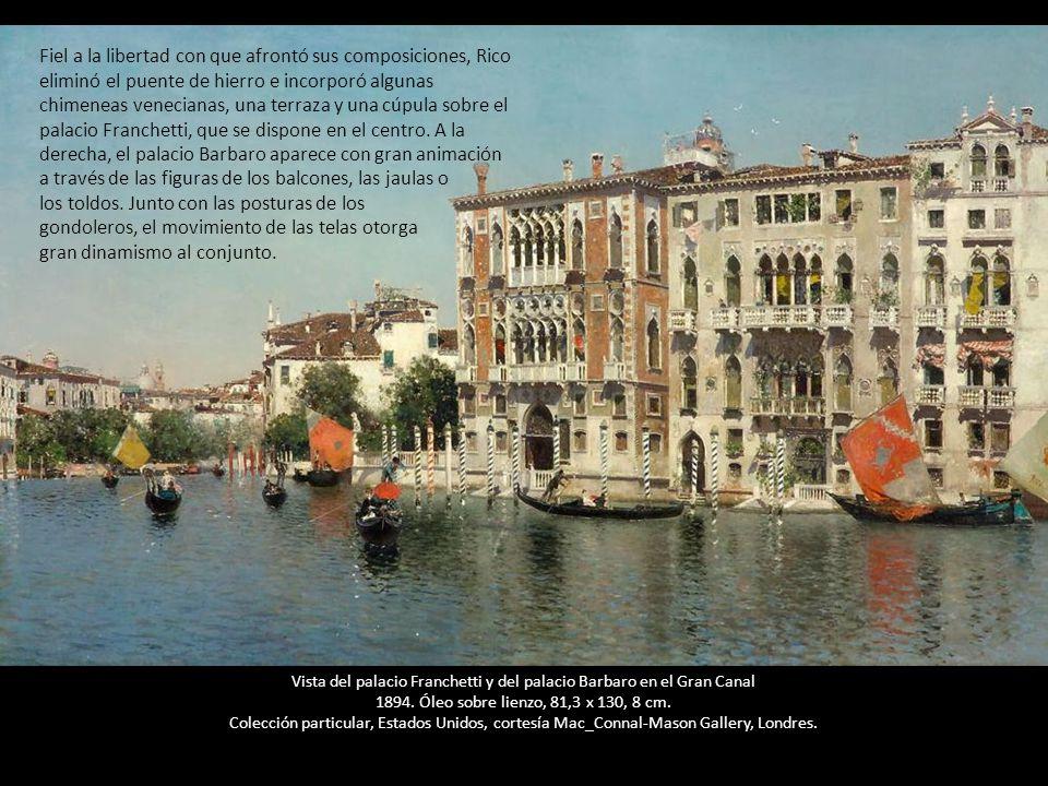 vista del palacio franchetti y del palacio barbaro en el gran canal