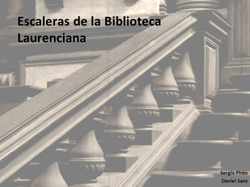 Escaleras de la biblioteca laurenciana ppt video online for Biblioteca debajo de la escalera