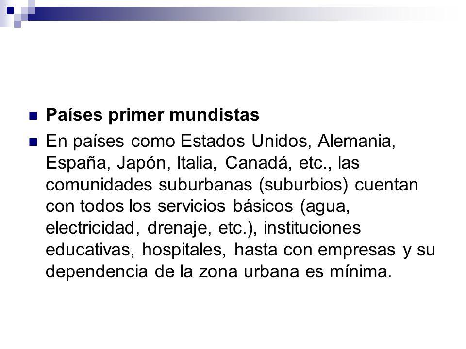 Países primer mundistas