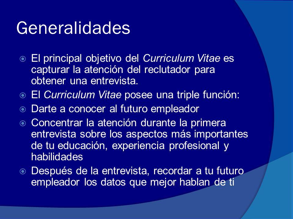 Elaboración del currículum vitae - ppt descargar