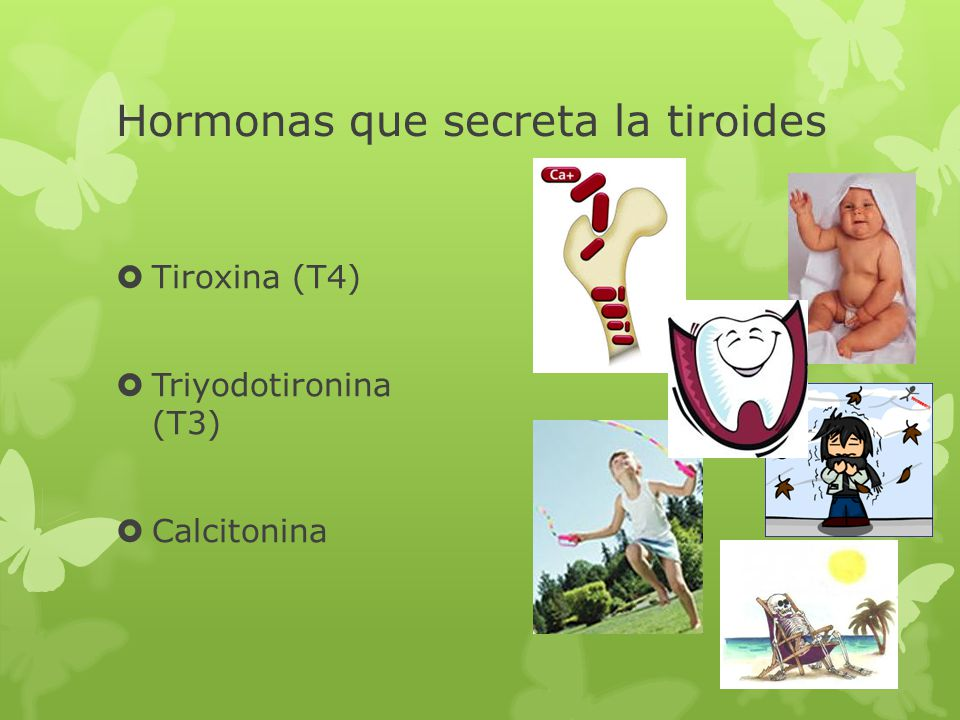 Hormonas que secreta la tiroides