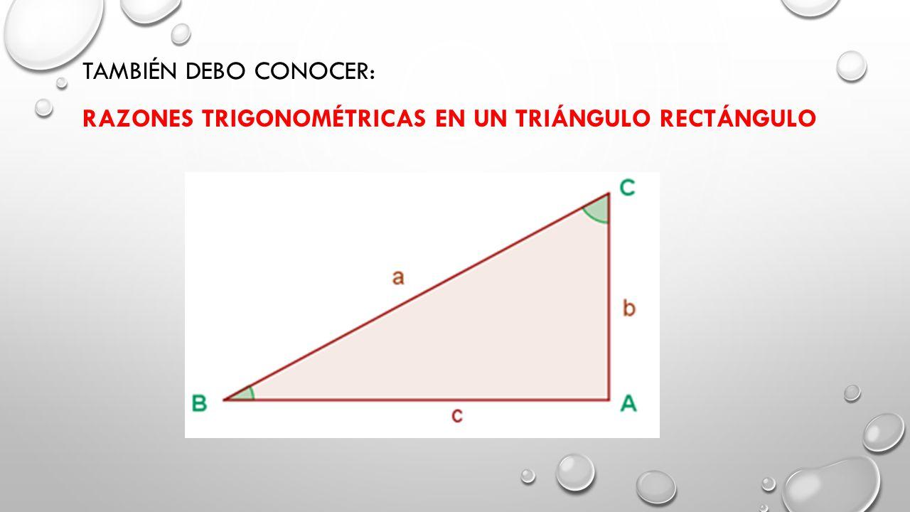 También debo conocer: Razones Trigonométricas en un triángulo rectángulo