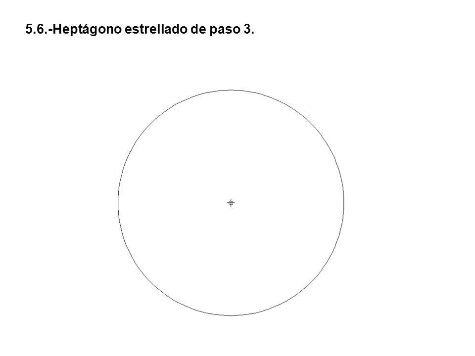 5.6.-Heptágono estrellado de paso 3.