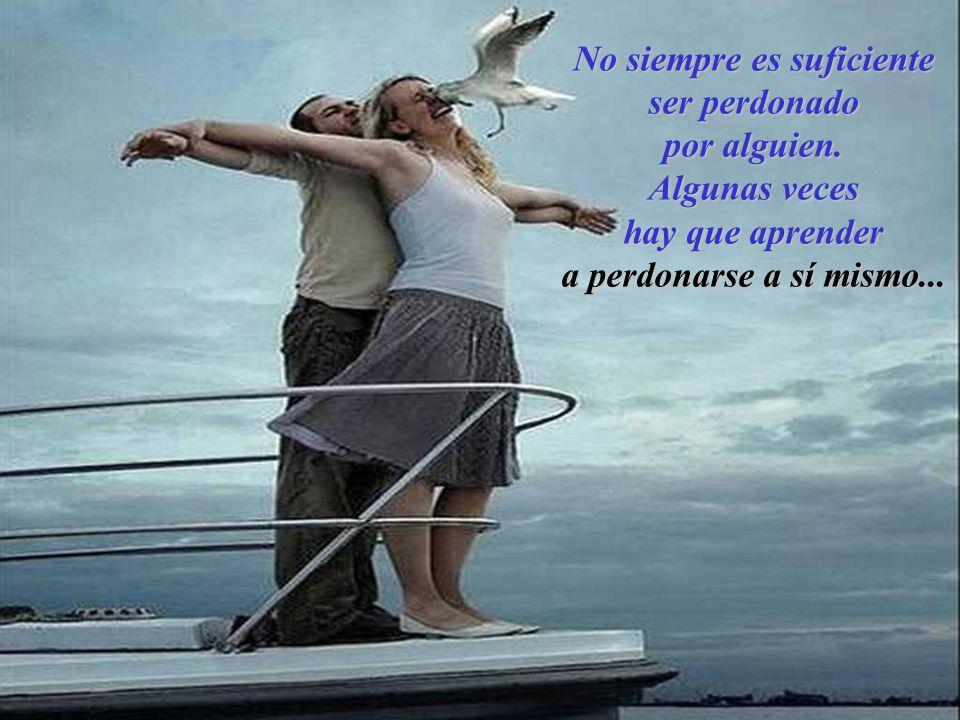 No siempre es suficiente ser perdonado por alguien. Algunas veces