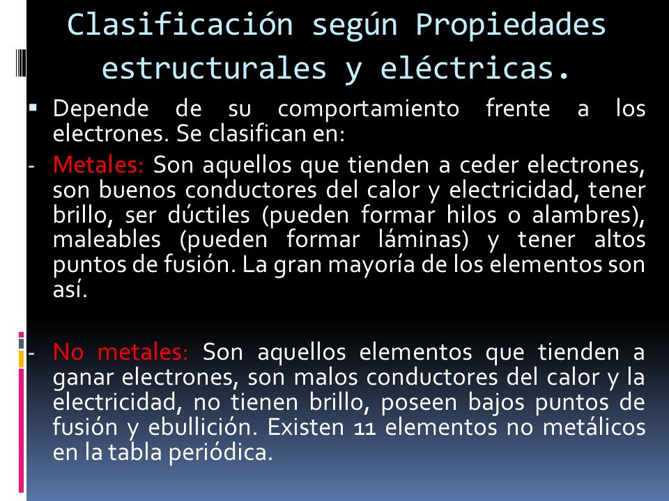 11 clasificacin - Tabla Periodica Metales Ductiles