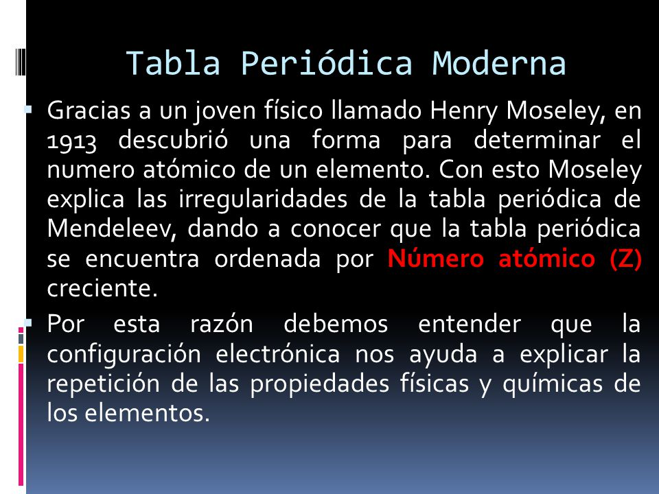 Tabla peridica de los elementos ppt descargar 4 tabla peridica moderna urtaz Image collections