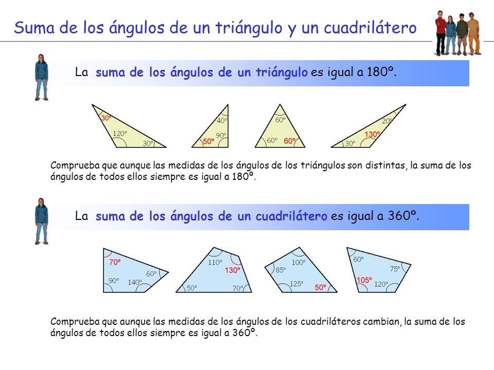 Suma de los ángulos de un triángulo y un cuadrilátero