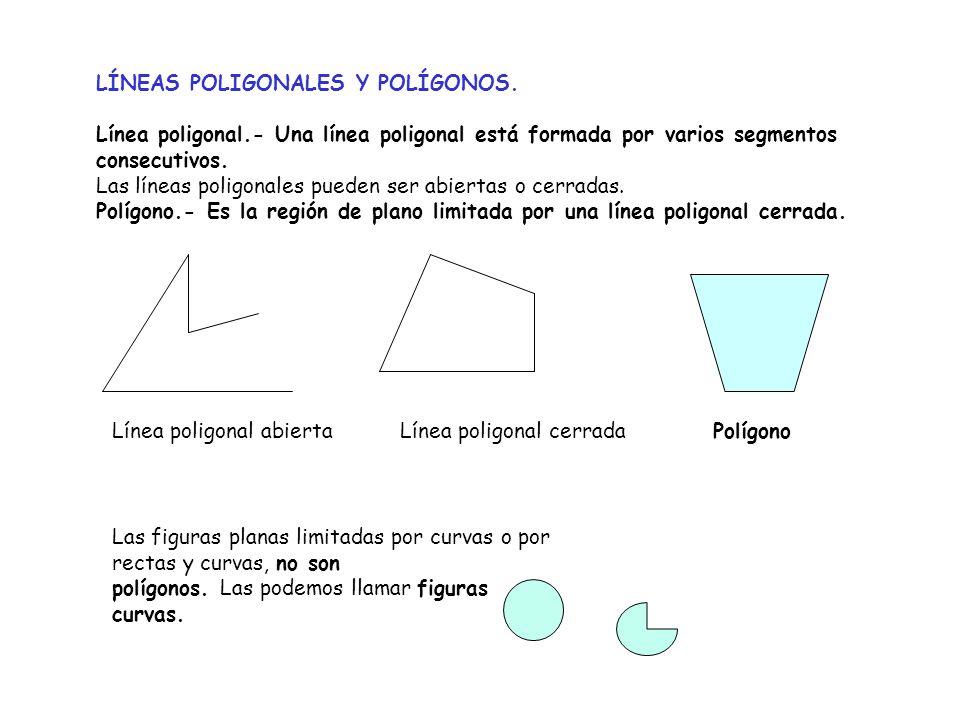 LÍNEAS POLIGONALES Y POLÍGONOS.