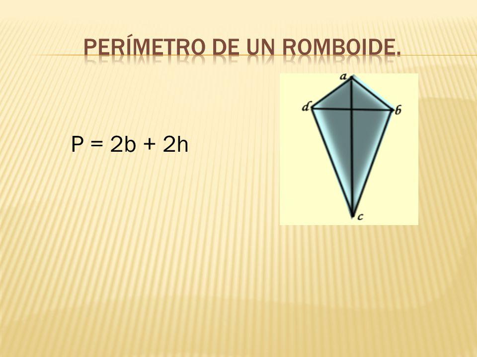 Perímetro de un romboide.