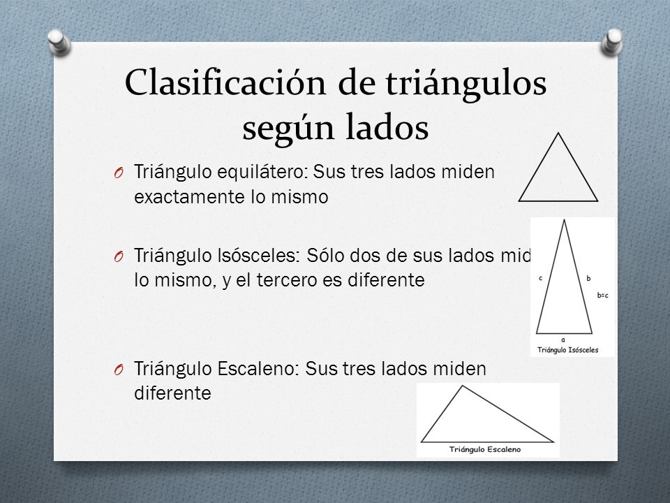 Clasificación de triángulos según lados