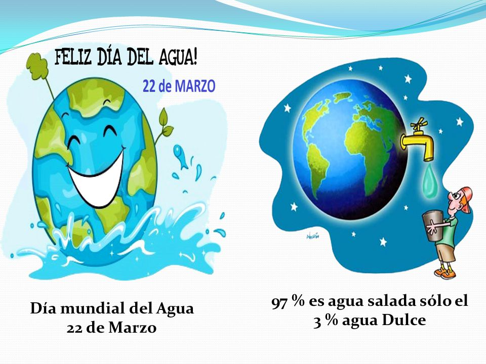 97 % es agua salada sólo el 3 % agua Dulce