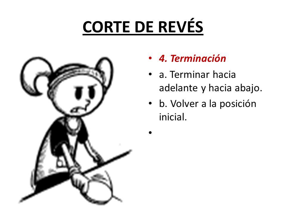 CORTE DE REVÉS 4. Terminación