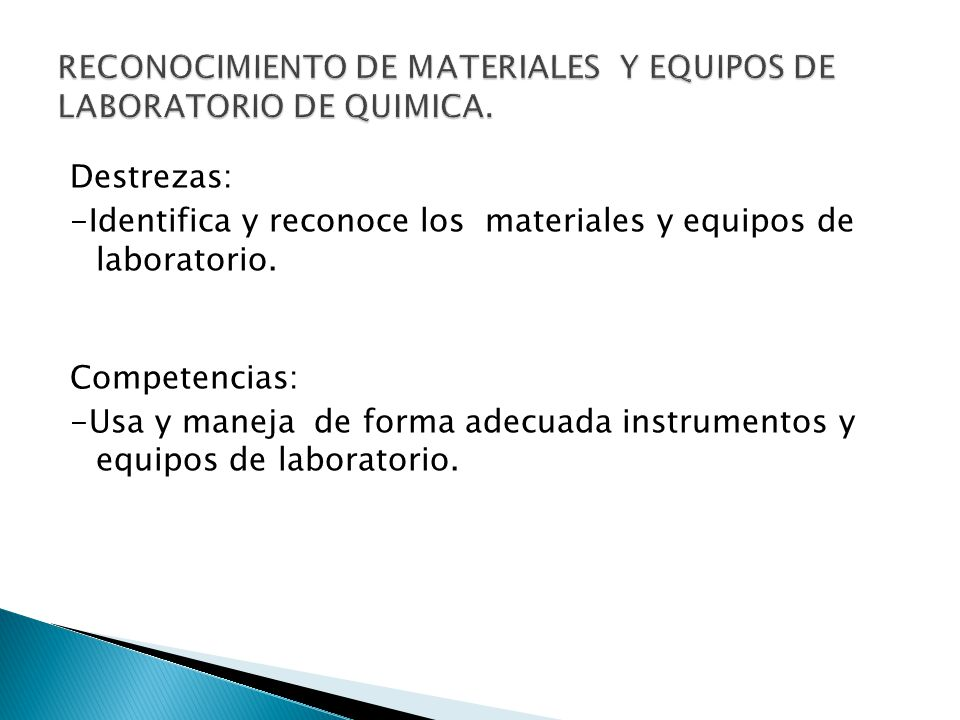 Material y equipos de laboratorio de ppt descargar for Equipos de laboratorio