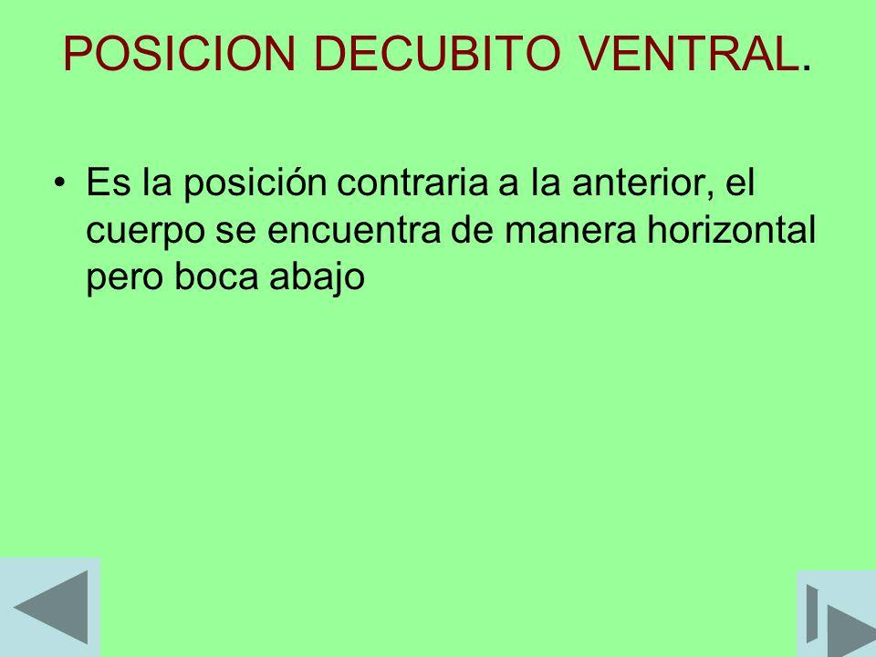 POSICION DECUBITO VENTRAL.