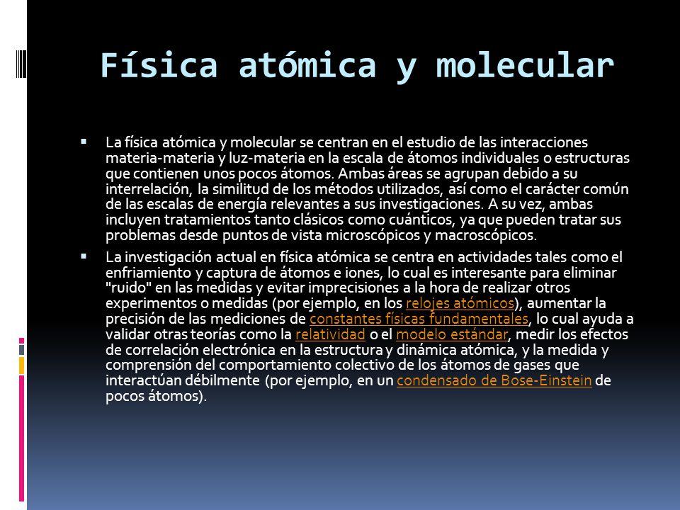 Física atómica y molecular