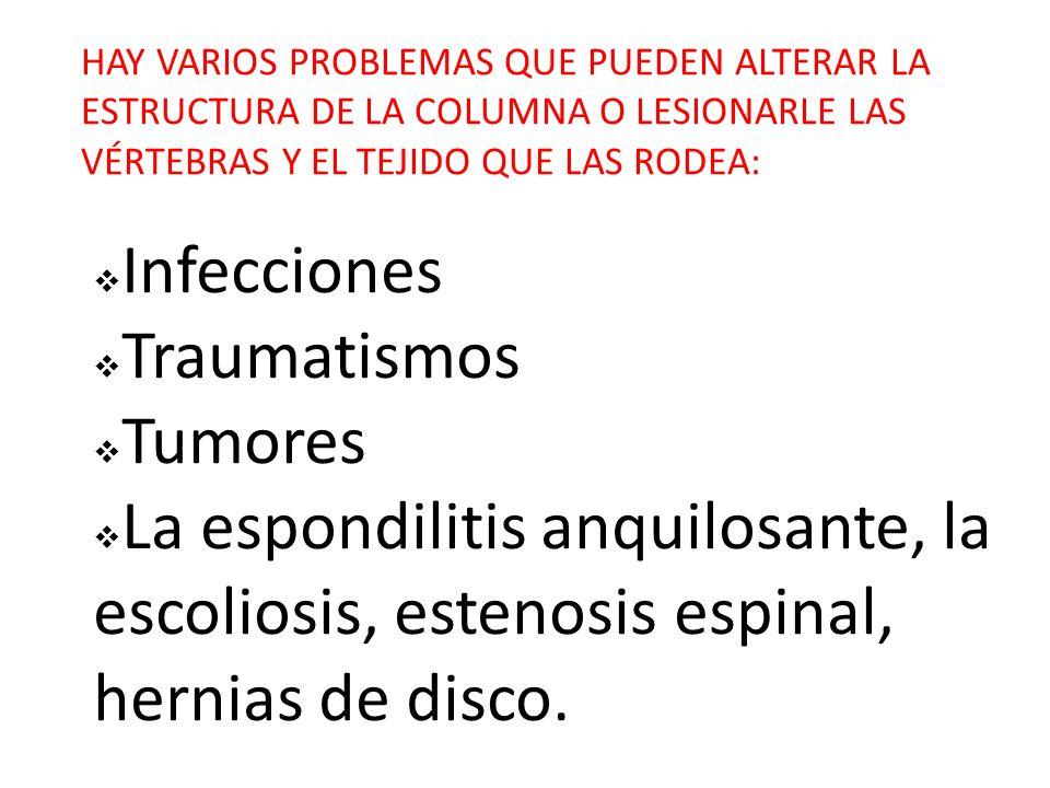 Infecciones Traumatismos Tumores