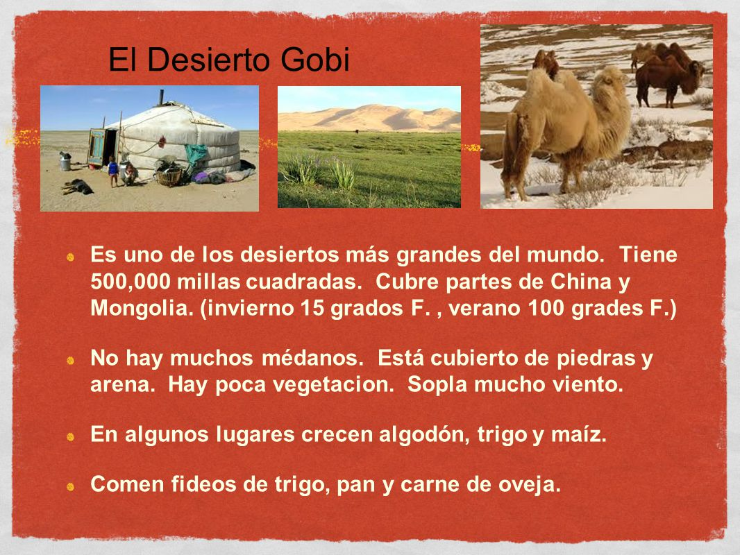 El Desierto Gobi