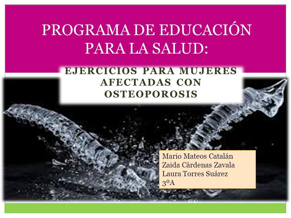 PROGRAMA DE EDUCACIÓN PARA LA SALUD: