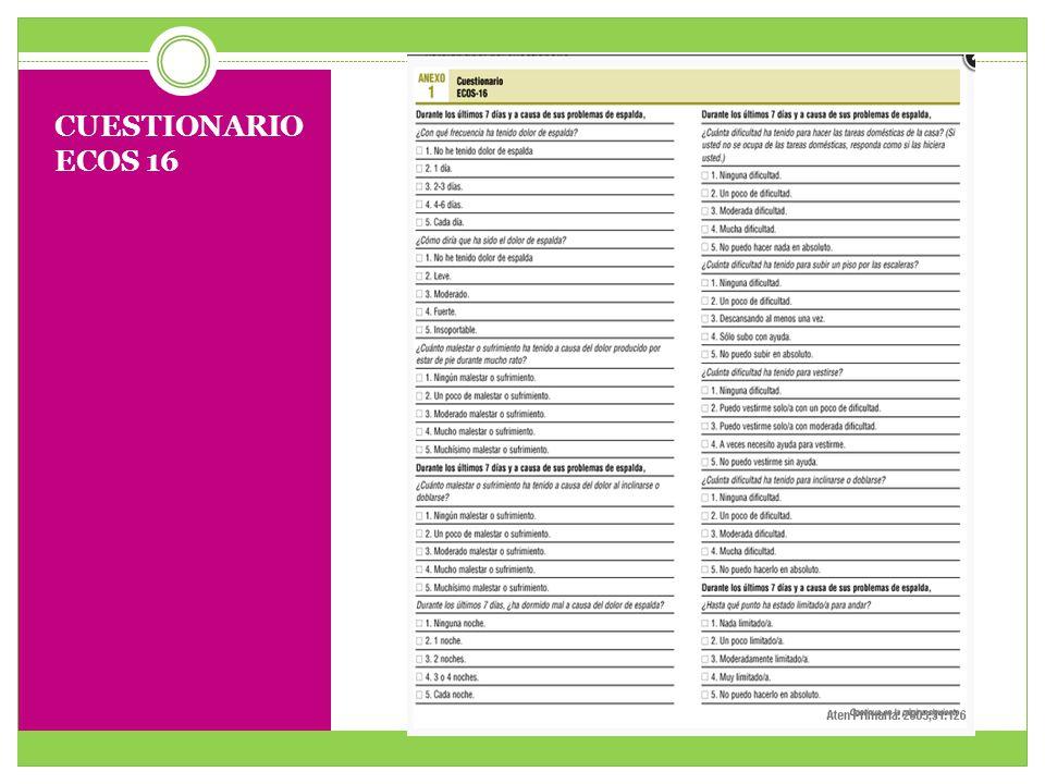 Cuestionario ECOS 16