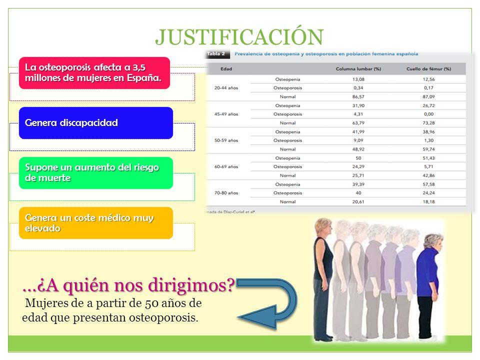 JUSTIFICACIÓN …¿A quién nos dirigimos