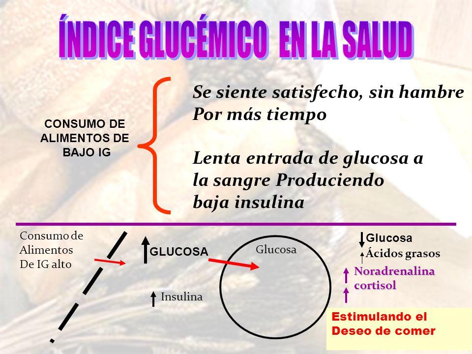 Educaci n el tratamiento de la diabetes ppt descargar - Alimentos bajos en glucosa ...