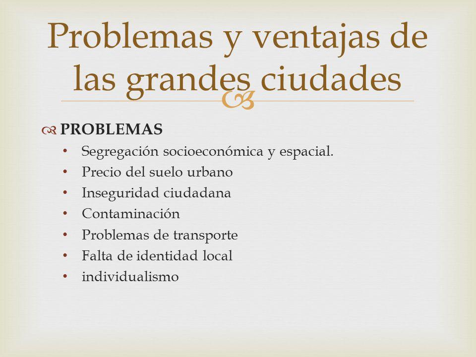 Problemas y ventajas de las grandes ciudades