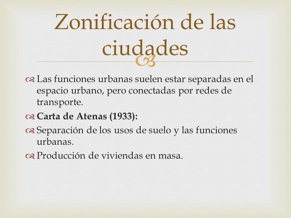 Zonificación de las ciudades