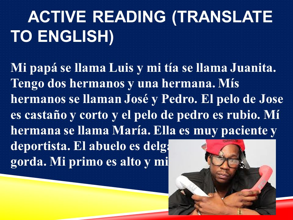 ACTIVE READING (TRANSLATE TO ENGLISH)