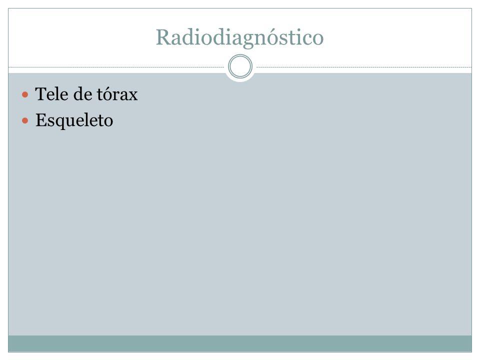 Radiodiagnóstico Tele de tórax Esqueleto
