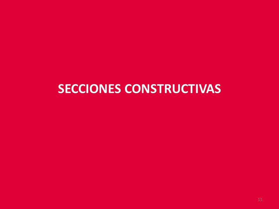 SECCIONES CONSTRUCTIVAS