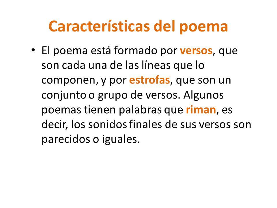 Características del poema