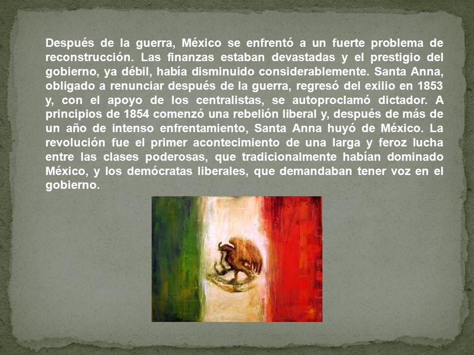 Después de la guerra, México se enfrentó a un fuerte problema de reconstrucción.