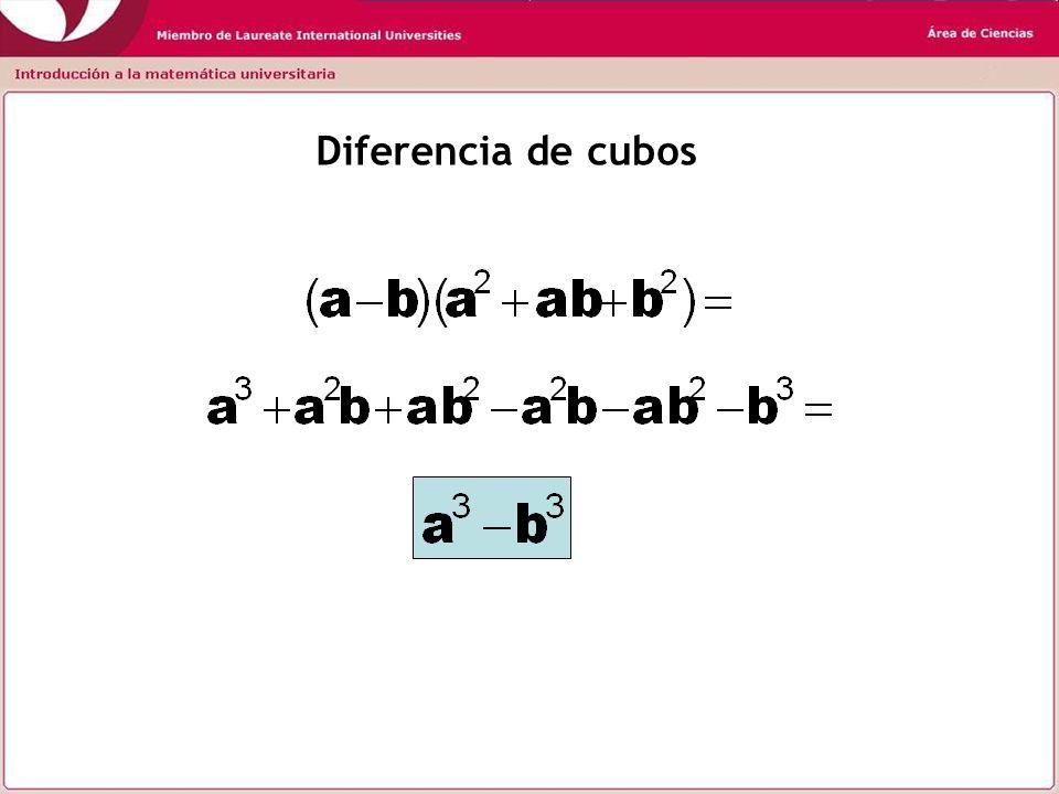 Diferencia de cubos