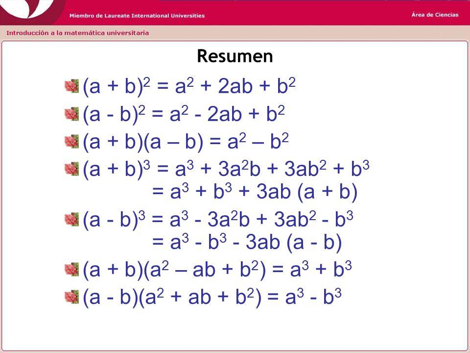 (a + b)3 = a3 + 3a2b + 3ab2 + b3 = a3 + b3 + 3ab (a + b)