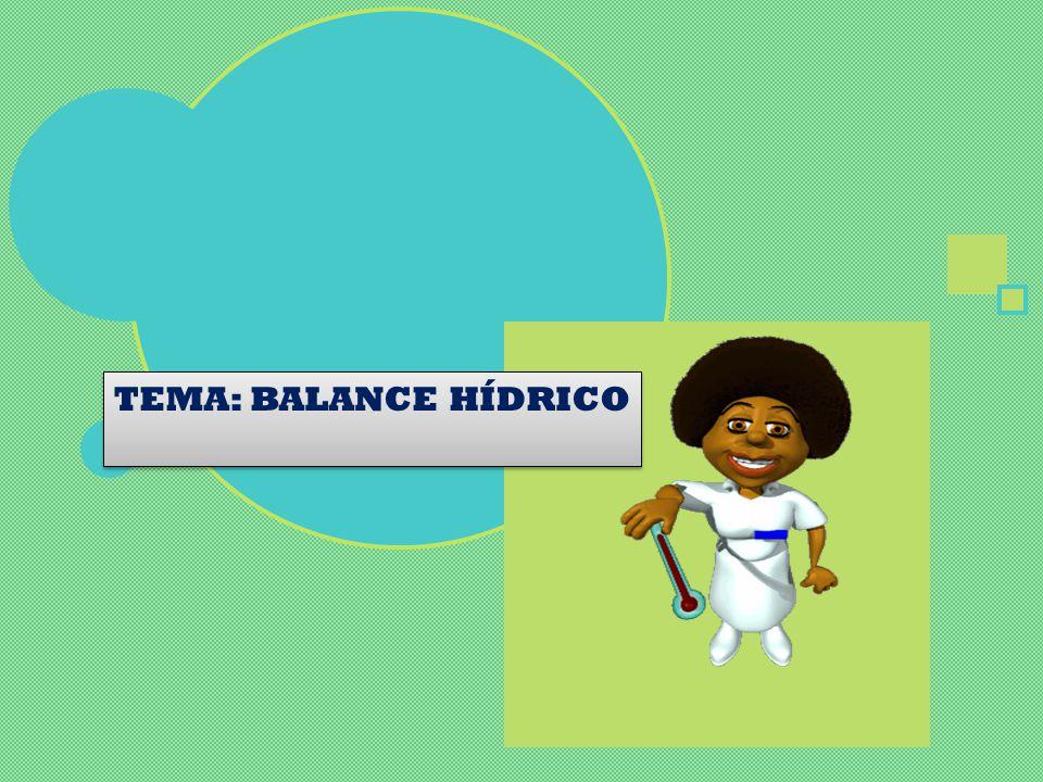 TEMA: BALANCE HÍDRICO