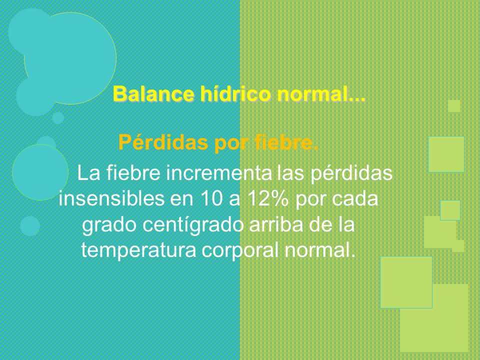 Balance hídrico normal...