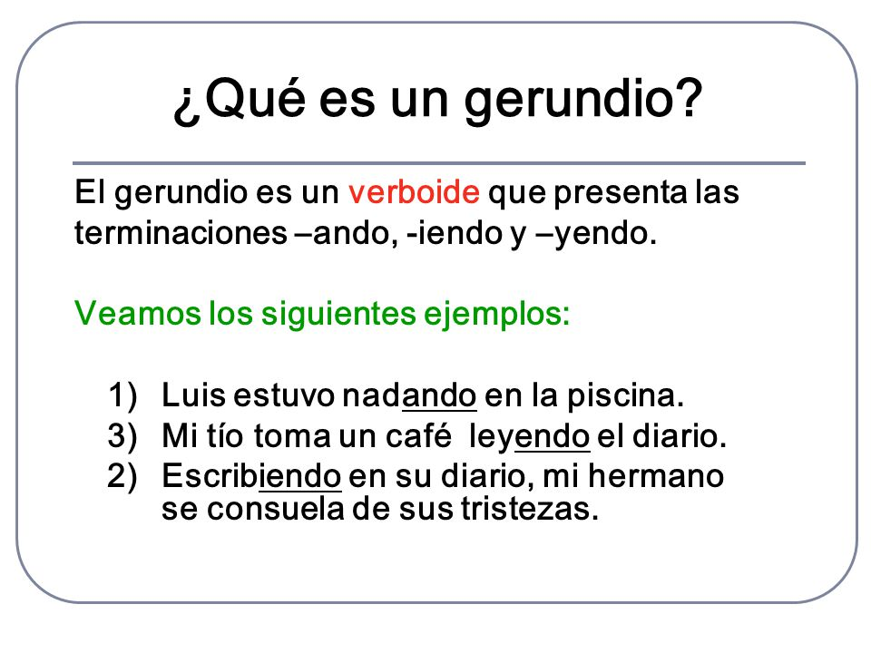 Fundamentos de lenguaje uso del gerundio ppt video for Que es un vivero frutal