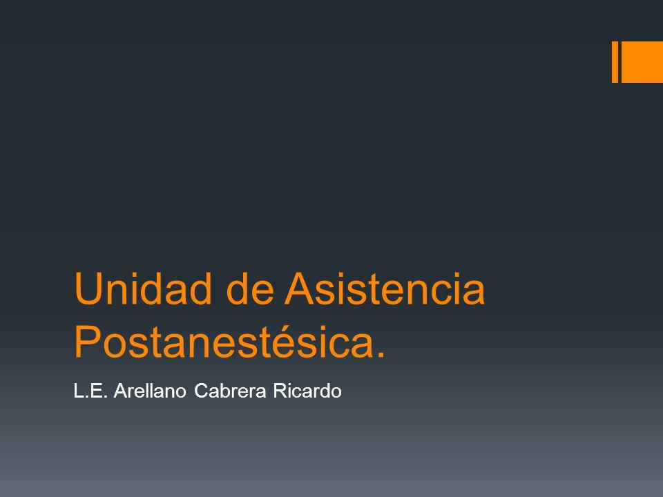 Unidad de Asistencia Postanestésica.