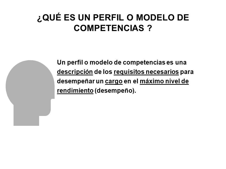 ¿QUÉ ES UN PERFIL O MODELO DE COMPETENCIAS