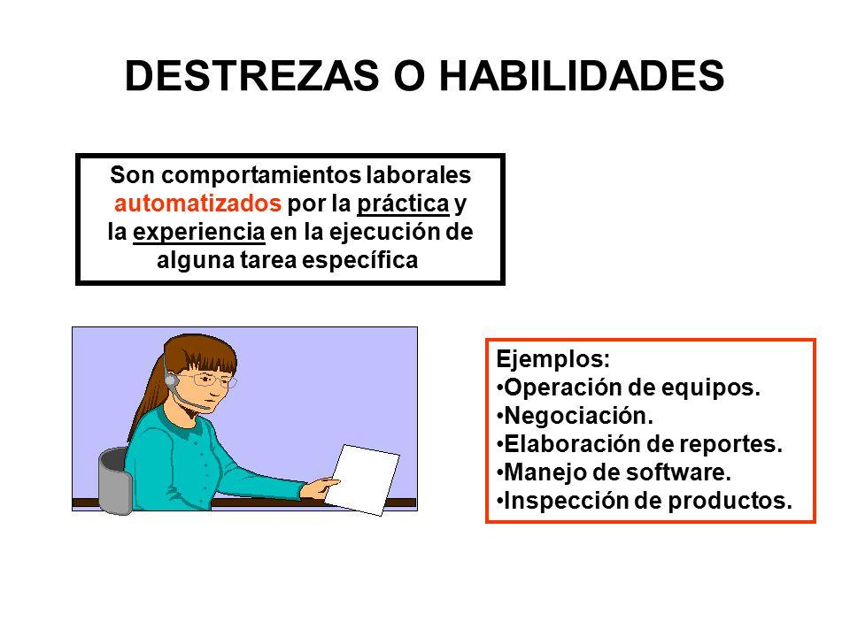 DESTREZAS O HABILIDADES